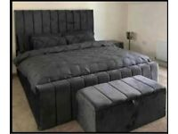 Beautiful luxury plush velvet beds