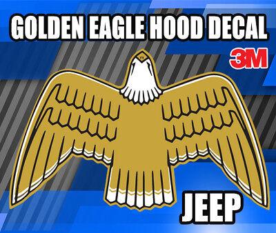JEEP CJ7 1977-80 Golden Eagle Gold Hood Bird Restoration Decals Set