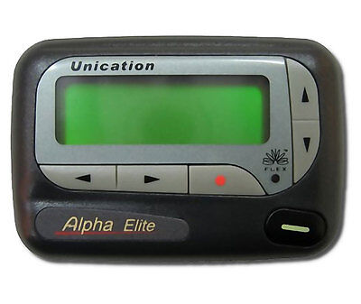 Unication Elite Alpha-Numeric Pager + 3 Months Service Included 90 Day Warranty!
