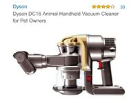 Dyson DC16 animal handheld vacuum cleaner with charger