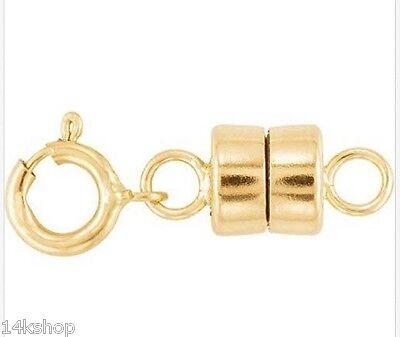 14k Gold Filled 4.5mm  Magnetic Lock Clasp Necklace Bracelet Connector Converter