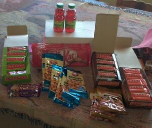 Various Drinks And Snacks for Sale