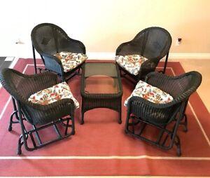 312de095ba8 Ratana Outdoor Patio Set - 4 glider chairs with table