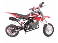 50CC POCKET BIKE MINI MOTO PIT DIRT BIKE KIDS OFF ROAD CROSSER SCRAMBLER