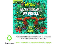 Elrow swg3 Glasgow tickets 18/3/17 -- Read description before replying!