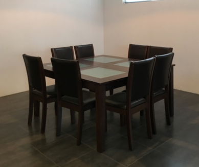 Almost Brand New Square Dining Table 8 Chairs