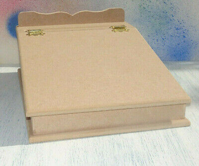 New MDF Vintage style Writing Slope Lap Desk takes A4 paper to paint decoupage