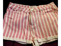 New stripped shorts