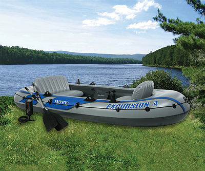 Intex Schlauchboot  EXCURSION 4 Set  68324  Grau/Blau