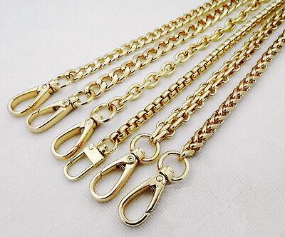 Purse Chain Strap Gold Handle Shoulder Crossbody Handbag Metal Replacement Bag