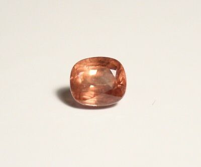 1.41ct Pastel Peach Mahenge Garnet - Clean Precision Cushion Cut Gem