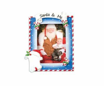 Santa and me Picture Frame Personalized Christmas Ornament PF559