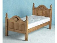 New Solid Corona Mexican Pine Single 3ft Bed Only £99 IN STOCK NOW, GET YOURS TODAY