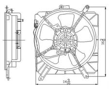 Engine Cooling Fan Assembly TYC 601160 fits 03-05 Kia Rio
