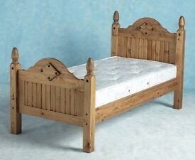 New Solid Corona Mexican pine 3ft single bed IN STOCK