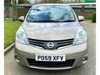 2009 Nissan Note 1.6 N-Tec Automatic 58000 Miles. ULEZ Free . PX OK MPV Petrol A