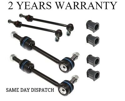 2X DISCOVERY 2 FRONT & REAR ANTI ROLL BAR DROP LINK & BUSH KIT (WITH ACE)