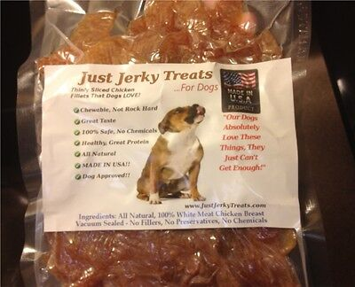 Natural Chicken Jerky Dog Treats   100  Chicken  Made In Usa  No Chemicals