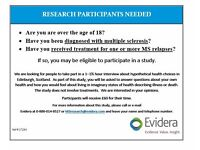 MULTIPLE SCLEROSIS STUDY: Participants Needed in Edinburgh