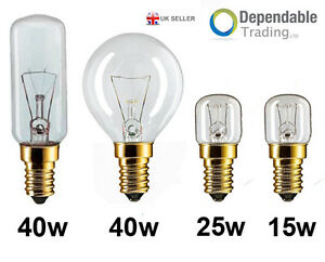 15w 25w 40w 300 degree ses e14 oven light bulbs cooker hood lamps 240v ebay. Black Bedroom Furniture Sets. Home Design Ideas