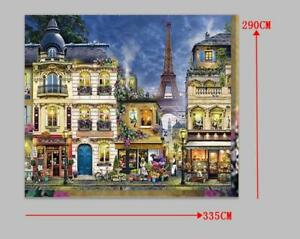 Eiffel Tower and Paris City with Cafe Wallpaper/Mural