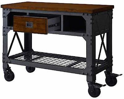 Whalen Wswb4819-2 48 Inch Metal And Wood Work Bench New