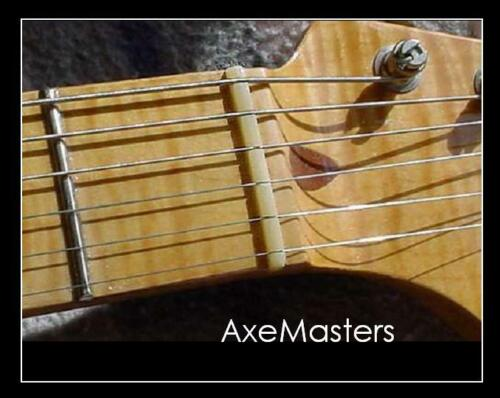 """AxeMasters 1 5/8"""" / 41mm UNBLEACHED BONE NUT made for Fender Guitar Strat Tele"""
