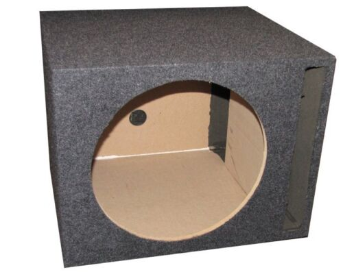 """QPower QSBASS10 Single 10"""" Vented Slot Ported Subwoofer Sub Enclosure Box"""