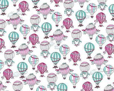 C'est La Vie Balloon Fabric French Paris Theme Pink Teal Balloons Fabrics ](Paris Themed Balloons)