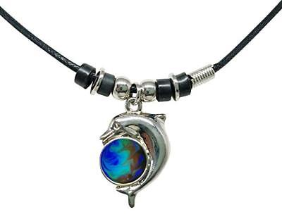 NEW Mood Color Change Dolphin Ball Pendant Necklace (Dolphin Necklaces)