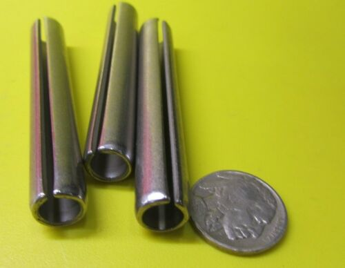 """420 Stainless Steel, Slotted Roll Spring Pin, 7/16"""" Dia x 3.0"""" Length, 5 pcs"""