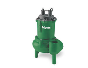 Myers MW50-11P 1/2 HP Residential/Light Commercial Cast Iron Sewage Pump 135 GPM