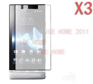 3X Clear Ultra Thin Screen Protector For Sony Xperia P LT22i