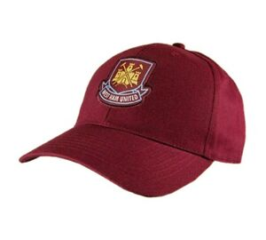 OFFICIAL WEST HAM UNITED FC BASIC BASEBALL CREST CAP/HAT NEW GIFT XMAS