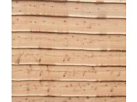 Cladding :cedar, larch, sweet chestnut, oak, Douglas fir... all woods