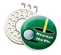 Nearest The Pin Tour Golf Cap/visor Clip And Ball Marker - asbri - ebay.co.uk