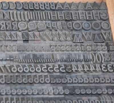 Bleischrift 9 mm Bleisatz Buchdruck Handsatz Alphabet Schrift ABC Bleilettern xx