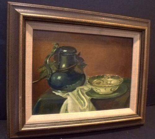 NOTED DUTCH OIL PIETER SCHEEN STILL LIFE - LEXICON OF ARTISTS - $250.00