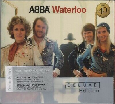 ABBA Waterloo Deluxe Edition CD & DVD 40th Anniv European Import 2014 New Sealed