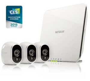 100% wire-free 3 Security Camera Kit Netgear ARLO VMS3330 Malaga Swan Area Preview