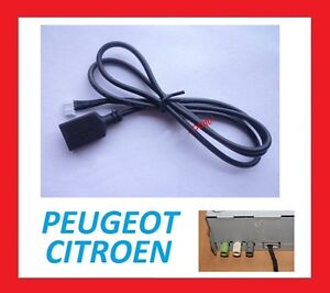 cable auxiliaire usb pour peugeot citroen autoradio d 39 origine envoi rapide. Black Bedroom Furniture Sets. Home Design Ideas