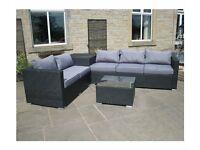 New Rattan 5 Seater Corner Sofa with Storage Box