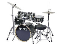 Drum Kit Mapex V-Series Black 5 Piece Drum Set