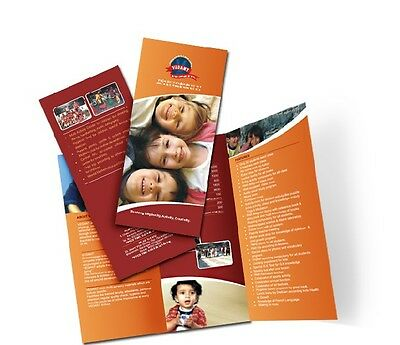 1000 Full Color Flyers - 8.5 x 11, 100# Gloss Text W/ AQ, Folded  FREE SHIPPING!