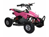 NEW BOXED 50CC PINK KIDS ATV PETROL QUAD BIKE MINI MOTO RIDE ON CAR 2 STROKE 49CC