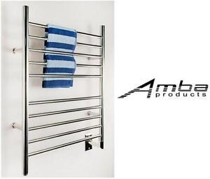 NEW* AMBA RADIANT TOWEL WARMER Hardwired Straight Towel Warmer, Polished - BATHROOM FIXTURE 103812089