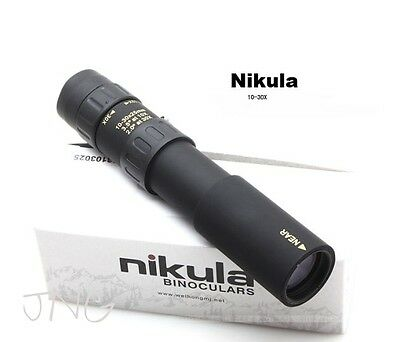 New Nikula Mini 10-30x25 High Power Zoom Optical Monocular Telescopes Outdoor
