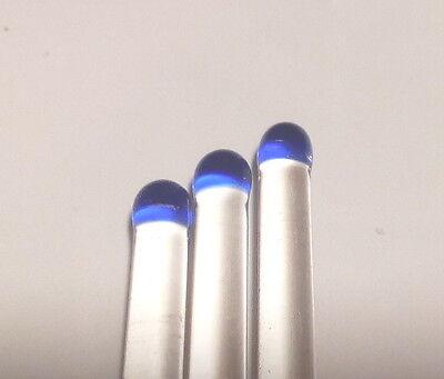 Lot Of 3 Color Tagged Borosilicate Glass Stir Rod 6 L X 5mm D Cobalt Blue