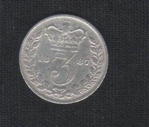 GRAN-BRETAGNA-3-PENCE-THREE-1887-REGINA-VICTORIA-MB-BB-KM-750-ARGENTO-mrm