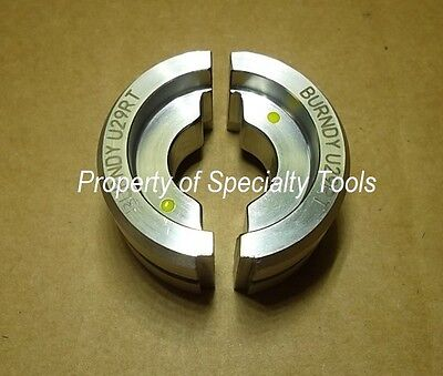 Burndy U29rt Stainless Crimper Crimping Die Hydraulic Crimp 250 Mcm Cu Index 16
